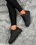 Jordin Black Lace Up Trainers