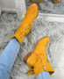 Marra Yellow Fringe Ankle Boots