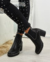 Ayana Black Pu Chunky Ankle Boots
