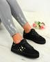 Marlie Black Suede Pearl Sneakers