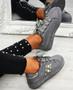 Marlie Grey Suede Pearl Sneakers