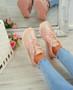 Itzel Pink Glitter Trainers