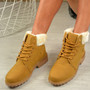 Jacey Camel Hiking Ankle Boots
