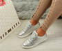 Siena Silver Lace Up Plimsolls