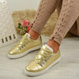 Siena Gold Lace Up Plimsolls