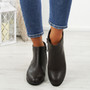 Nipa Brown Pixie Studded Boots