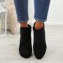 Junona Black Cuban Heel Boots
