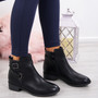 Vero Black Buckle Ankle Boots
