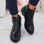 Amaya Black Zip Ankle Boots