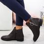 Amaya Brown Zip Ankle Boots