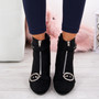 Finley Black Block Heel Ankle Boots