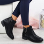 Moonsa Black Ankle Boots
