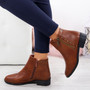 Moonsa Camel Ankle Boots