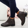 Moonsa Grey Ankle Boots
