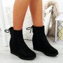 Rya Black Wedge Ankle Boots
