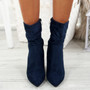 Dole Blue Cone Heel Ankle Boots