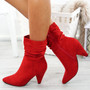 Dole Red Cone Heel Ankle Boots