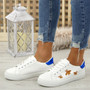 Viba White Pu Lace Up Trainers
