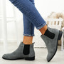 Ronna Grey Suede Chelsea Ankle Boots