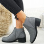 Ovie Grey Suede Chelsea Ankle Boots