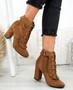 Nangi Camel Ruffle Ankle Boots
