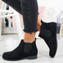 Lenna Black Suede Chelsea Ankle Boots