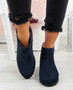 Lenna Blue Suede Chelsea Ankle Boots