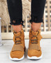 Viga Camel Trainers Ankle Boots