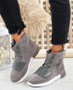 Viga Grey Trainers Ankle Boots
