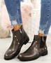 Liss Bronze Studded Ankle Boots