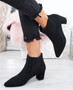 Manzee Black Suede Chelsea Ankle Boots