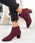 Manzee Wine Chelsea Ankle Boots