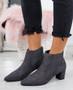 Manzee Dark Grey Chelsea Ankle Boots