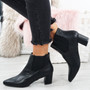 Manzee Black Pu Chelsea Ankle Boots
