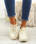Ainy Beige Glitter Trainers