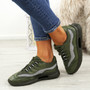 Frally Green Glitter Sneakers