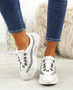 Frally White Glitter Sneakers