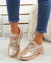 Lannia Champagne Shiny Trainers