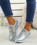 Lannia Silver Shiny Trainers