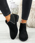 Nosi Black Suede Chelsea Boots