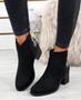 Mimi Black Glitter Ankle Boots