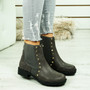 Oti Grey Studded Chelsea Boots