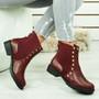 Oti Wine Studded Chelsea Boots