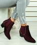 Calla Wine Cuban Heel Chelsea Boots