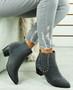 Calla Grey Cuban Heel Chelsea Boots