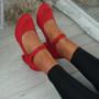 Seta Red Mary Jane Pumps