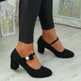 Wena Black Bow Pumps