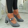 Wena Grey Bow Pumps
