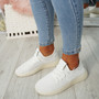 Occo White Lace Up Trainers