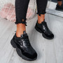 Jull Black Chunky Trainers